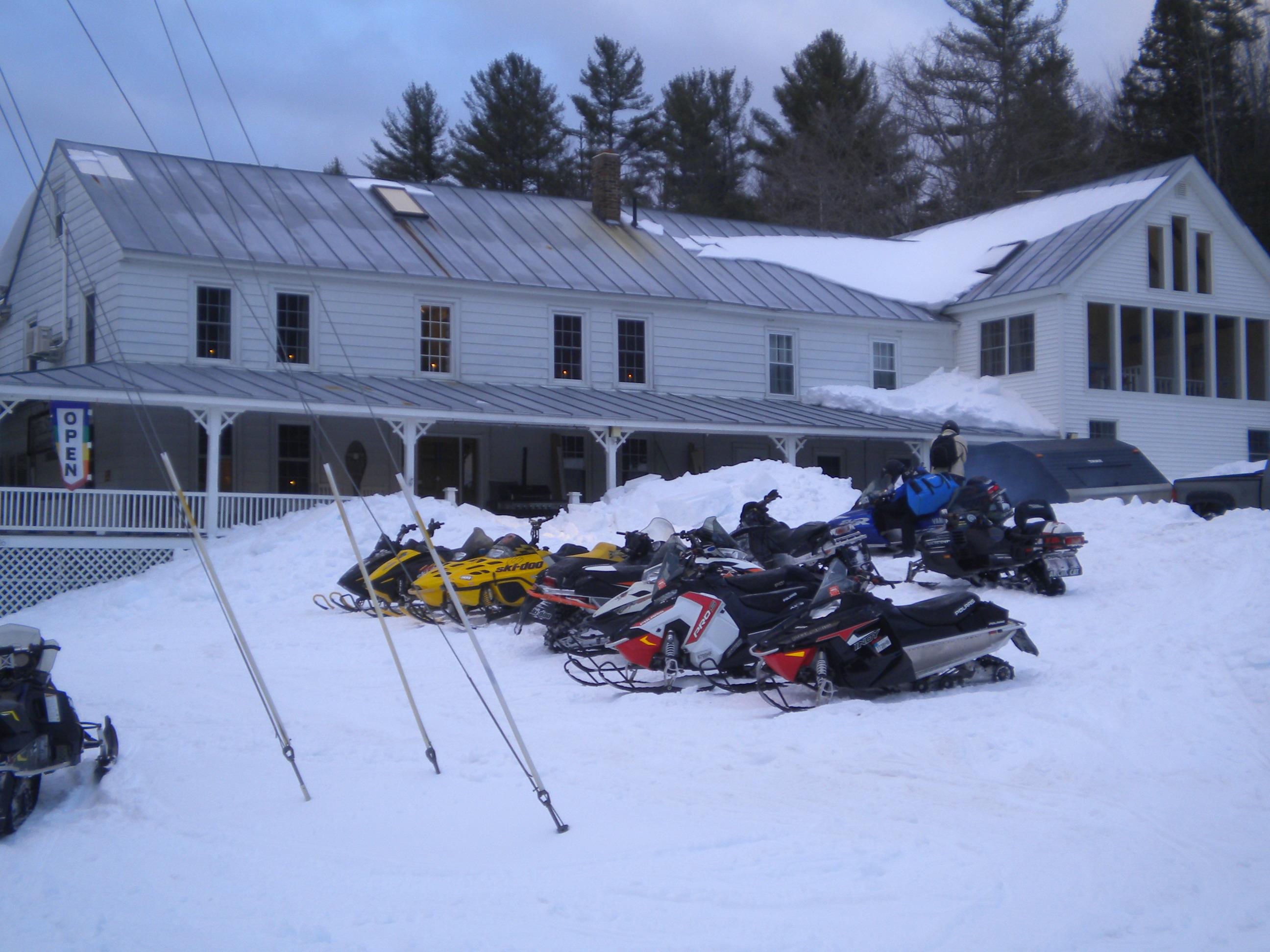 Snowmobiles..